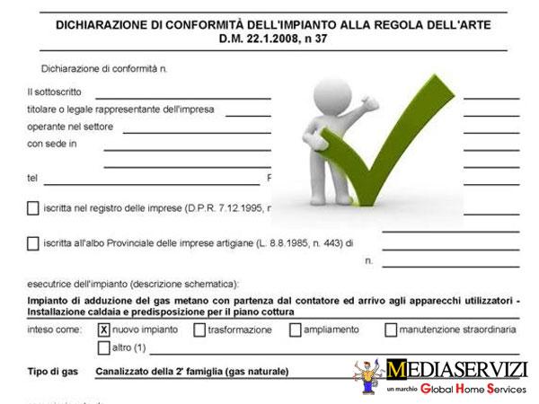 Certificazione dichiarazione di conformità impianto elettrico 1