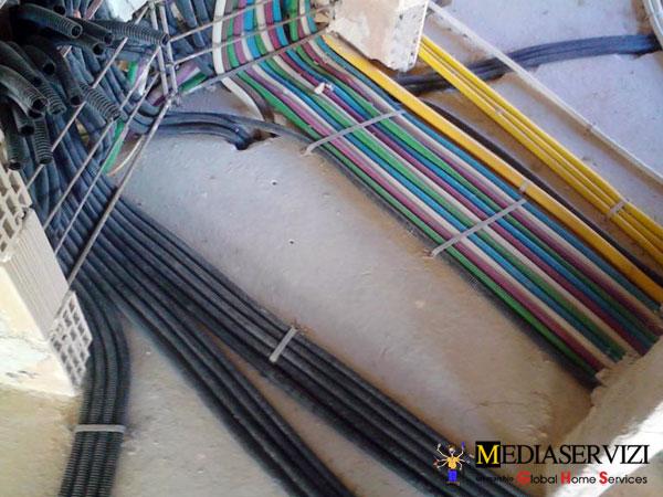 Impianto elettrico sottotraccia 3