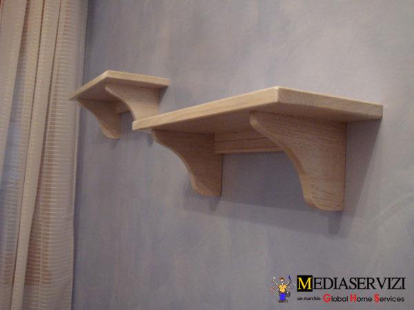 Mensola a parete in legno 1
