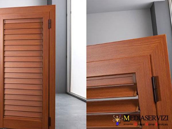 Fornitura persiana legno e ferro 1