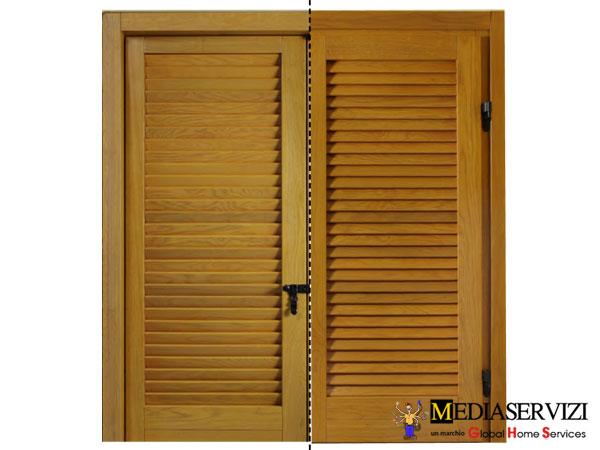 Fornitura persiana legno e ferro 3