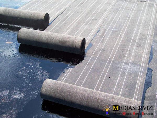 Guaina bituminosa per impermeabilizzazioneterrazzi e balconi 1