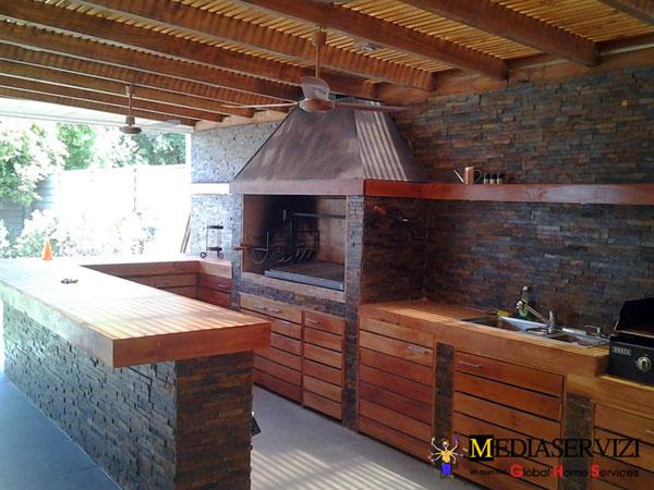 Montaggio camino e barbecue in muratura 1