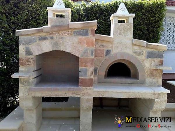 Montaggio camino e barbecue in muratura 3